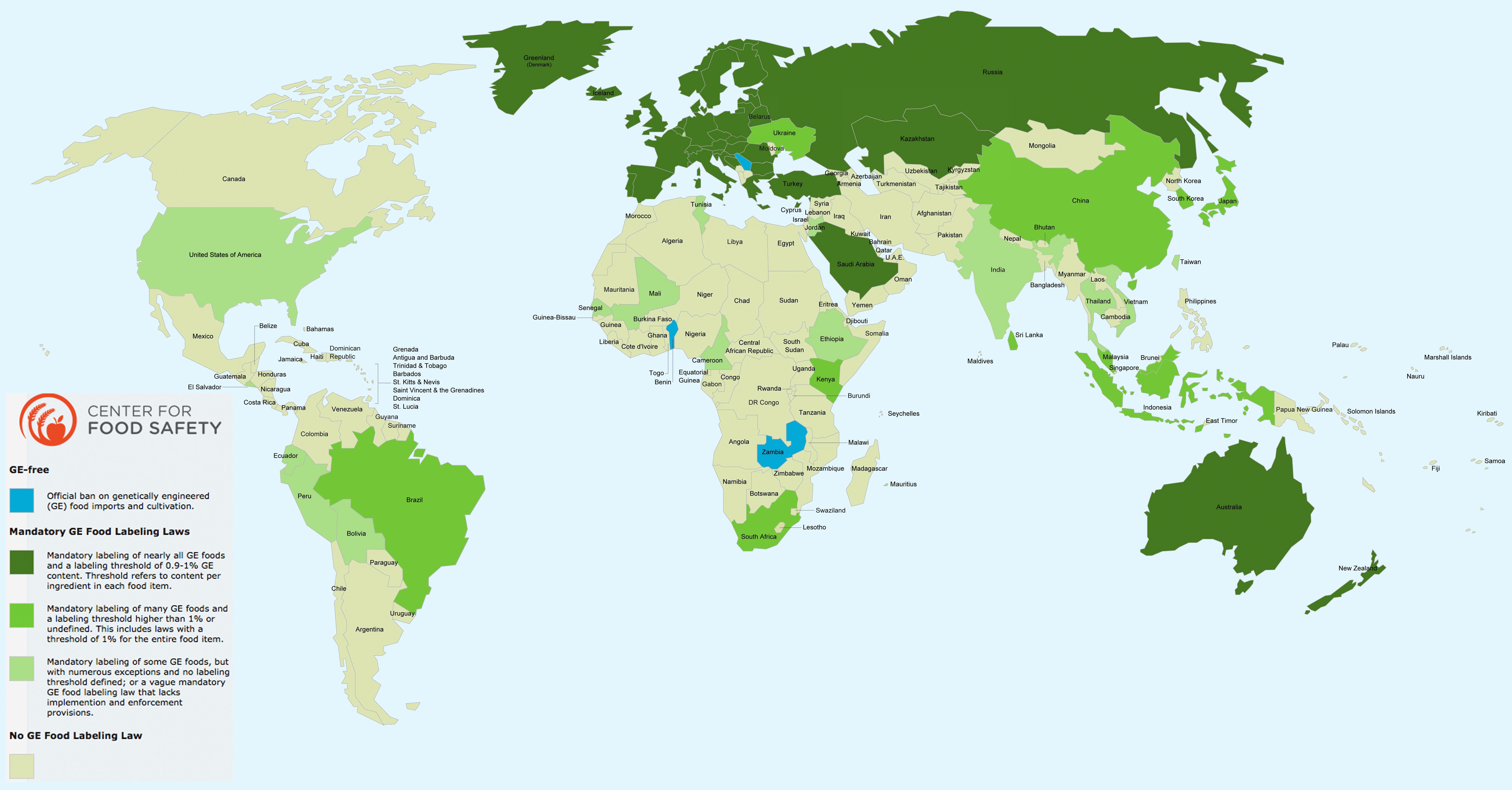 How are GMOs labeled around the world GMOFAQ